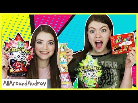 Hyper Audrey and Jordan Try Treats from Chinatown! / AllAroundAudrey