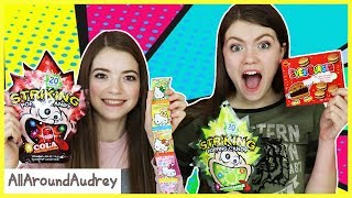 Hyper Audrey and Jordan Try Treats from Chinatown! / AllAroundAudrey