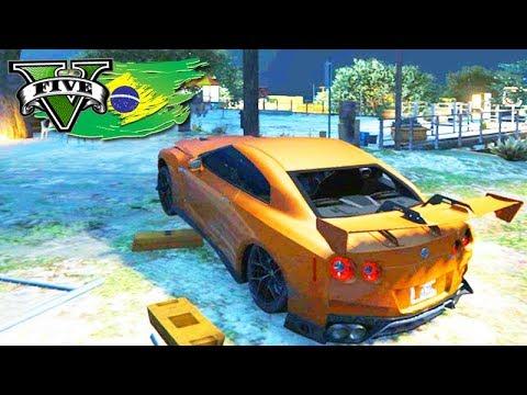 GTA V: BRASIL ROLEPLAY - BATI MEU GTR dentro da FAVELA!!! #50
