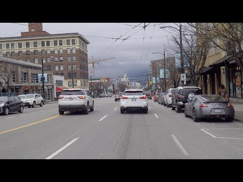 Driving In Vancouver, British Columbia, Canada. Main Street To East Cordova. City Life.