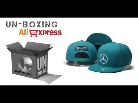 a44f11d968 Unboxing #5 - Boné Mercedes Lewis Hamilton Aliexpress - YouTube