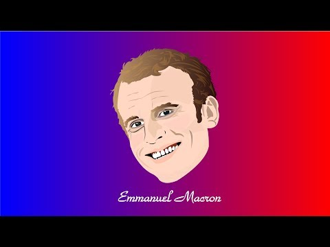 M Beent Live Stream # Emmanual Macron_President of France  # Vector Face Art # illustrator CC