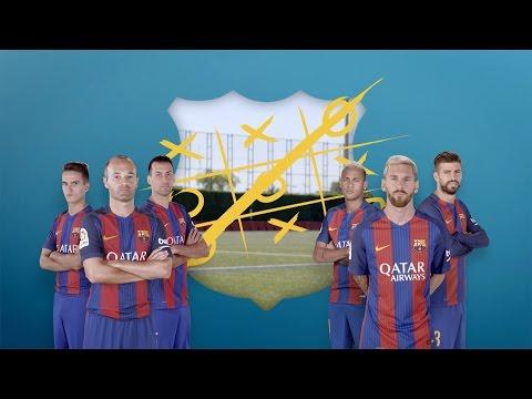 Tic-tac-toe: Messi, Piqué & Neymar vs Iniesta, Sergio & Denis
