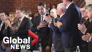 Venezuela crisis: FULL Juan Guaido, Mike Pence statements to Lima Group