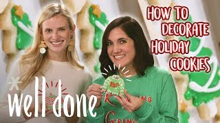 How to Decorate Holiday Cookies with Glaze Icing | Food 101 | Well Done