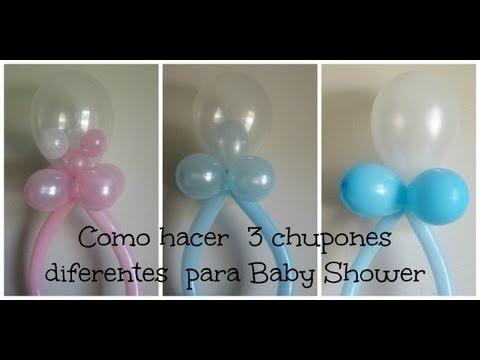 Decoracion de Globos ( 3 diferentes Chupones) Baby Shower
