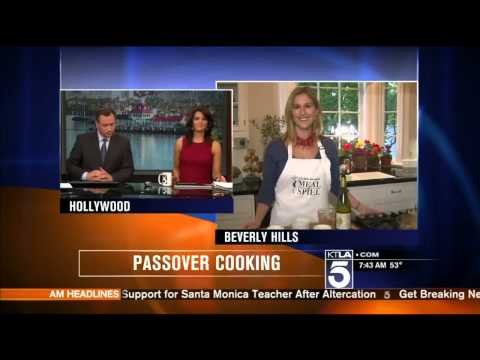 KTLA News - Elana Horwich Cooks Charoset for Passover