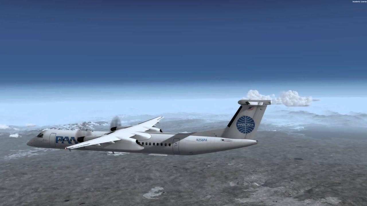 Majestic DHC-8 Q400 Pro KJAC-KBZN RNP Approach 4K