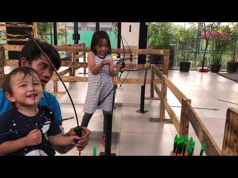 Zara Cute belajar Cara Memanah  Yuk Olah Raga belajar Ketangkasan  Wisata Pendidikan