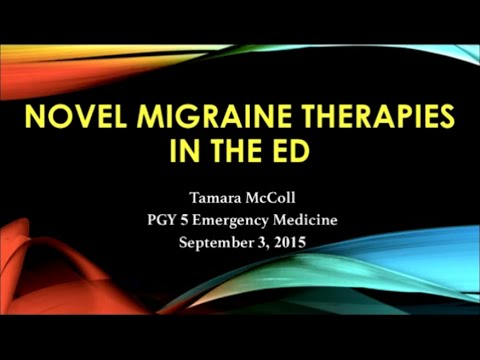 Novel Migraine Therapies in the Emergency Department