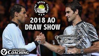 2018 Australian Open DRAW SHOW | Coffee Break Tennis