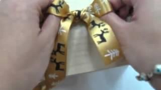 印刷緞帶蝴蝶結打法