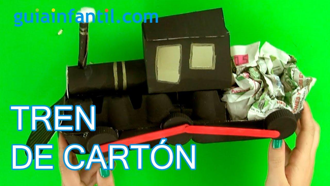 Cómo hacer un tren de cartón paso a paso - YouTube