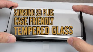 Samsung S9 Plus Case Friendly Tempered Glass Screen Protector