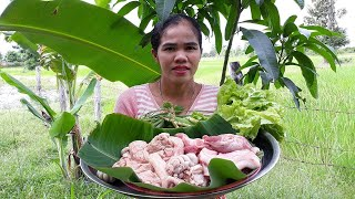 Asian food , Awesome Cooking Pork W Vegetable Recipe -  Cook  Pork Recipes -   Village Food Factory