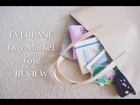 我的包包里有什么? | EVERLANE Day Market Tote | What's in my Bag | 上学包包