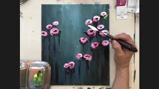 Knife Painting Tutorial - Rose Garden (Medium)