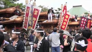 2010年10月10日(日) 岸和田だんじり 10月祭礼・久米田寺。 八木地区11...