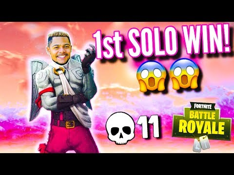 *CRAZY* FIRST LIVE SOLO WIN in Fortnite: Battle Royale! (EPIC)