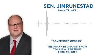 Sen. Runestad joins Frank Beckmann on WJR to discuss executive orders