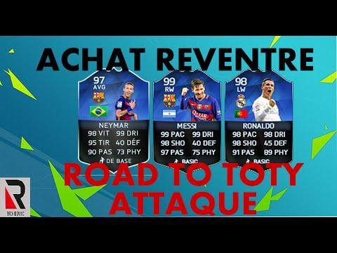 FUT 16 |ACHAT REVENTE | ROAD TO TOTY ATTAQUE | 450 000 CREDIT EN 3 JOURS !!!