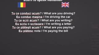 Learn to Speak Romanian 29. The present