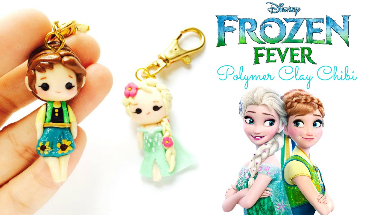 ... Frozen Fever Polymer Clay Elsa and Anna Chibi Shop Update - YouTube