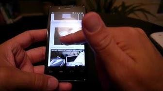 Test smartphone Orange with Intel inside (navigateur / browser)