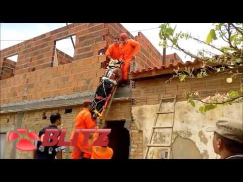 Homem baleado é resgatado pelos bombeiros no bairro Kadija