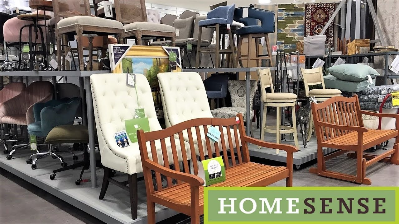 HOME SENSE ARMCHAIRS CHAIRS FURNITURE - SHOP WITH ME SHOPPING STORE WALK  THROUGH 7K