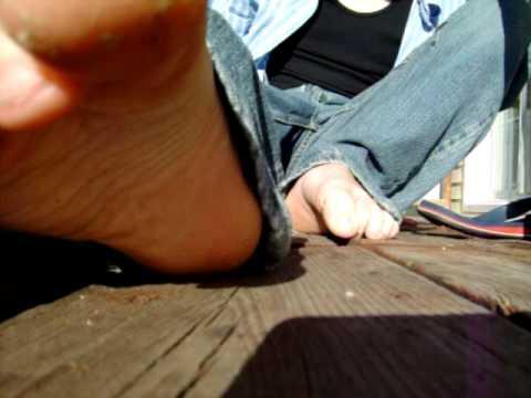 My feet outside tease part 1