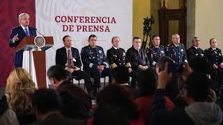 Presentan a comandante de la Guardia Nacional. Conferencia presidente AMLO