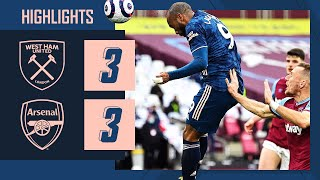 HIGHLIGHTS | Dramatic three-goal comeback! | West Ham vs Arsenal (3-3) | Premier League