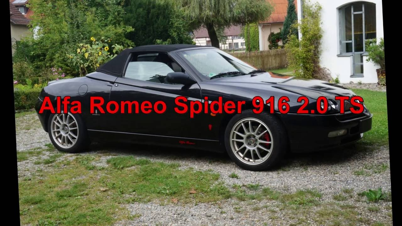 alfa romeo spider 916 2 0 ts 150 psmvp youtube. Black Bedroom Furniture Sets. Home Design Ideas