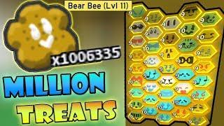 Buying *MILLION TREATS* ( 10 billion honey )- Roblox bee swarm simulator