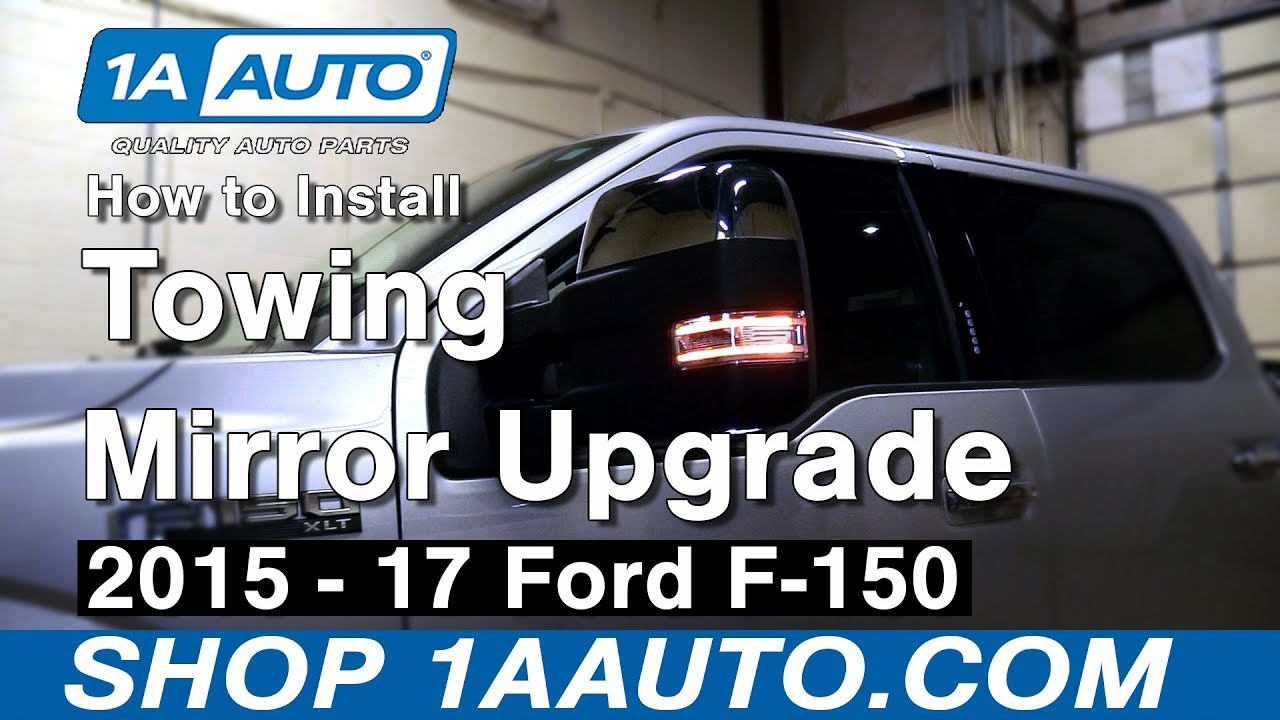 how to install tow mirrors 15 18 ford f150 [ 1280 x 720 Pixel ]