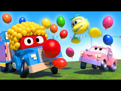Party clown  - Carl the Super Truck - Car City ! Cars and Trucks Cartoon for kids