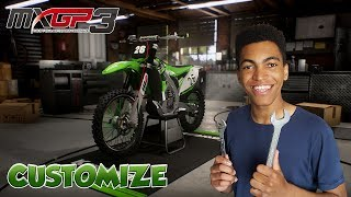 MXGP 3 The Official Motocross Game | Customisation Kawasaki KX250F ! | Gameplay FR