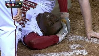 Didi Gregorius forced to exit after being hit in helmet