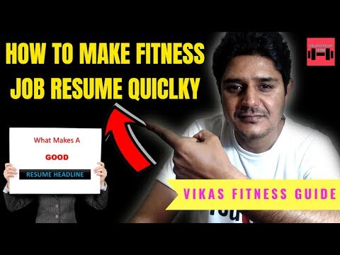 How To Make Fitness Job Resume For Dubai And Abroad Jobs