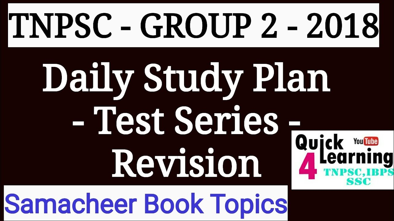 TNPSC Group 2 - 2018 - Daily Study Plan- Test Series ...