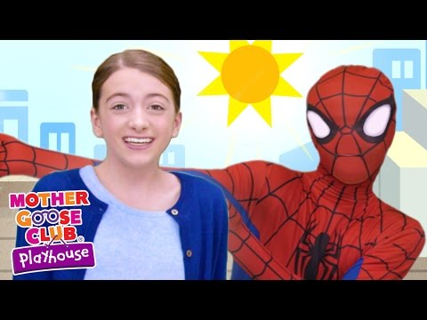 Spiderman Surprise Egg | Itsy Bitsy Spider | Mother Goose Club Playhouse Kids Video