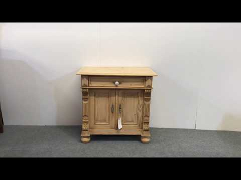 Small Antique Pine Bedside Cupboard - Pinefinders Old Pine Furniture