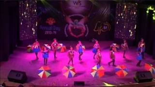 AAJ MAIN UPAR AASMAAN NICHE DANCE BY GRADE-SR.KG(B) IN ANNUAL DAY 2013-14 WIS,UDAIPUR