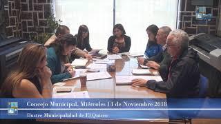 Concejo Municipal Miércoles 14 de Noviembre 2018