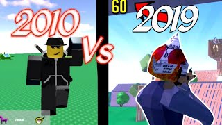 Roblox 2010 Player Vs 2019 Player