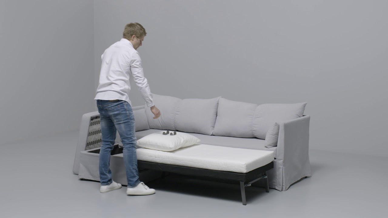 Ikea Sandbacken Hoekslaapbank Youtube