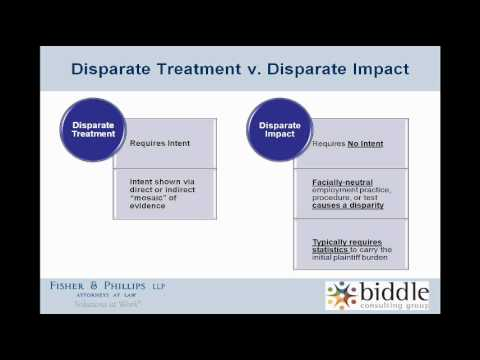 Disparate Treatment vs. Disparate Impact - YouTube