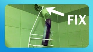SHOWER CADDY DIY - How to Keep Your Shower Caddy from Falling!