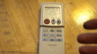 Air conditioner remote control heat and cool modes info Mitsubishi